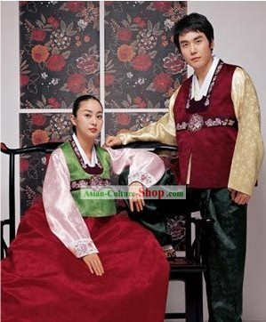 Korean Classic 100% Handmade Korean Hanbok for Couple-Autumn Lovers