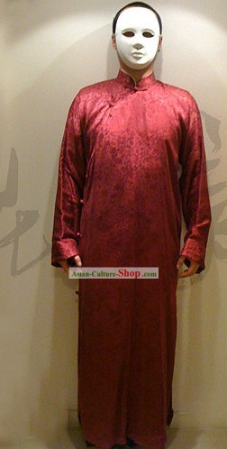 Chinese Ancient Traditional Long Jacket Ma Gua(Aba) for Man
