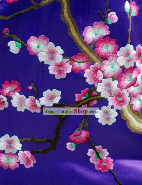 Supreme Chinese Handmade and Embroidered Plum Blossom Cheongsam (Qipao)
