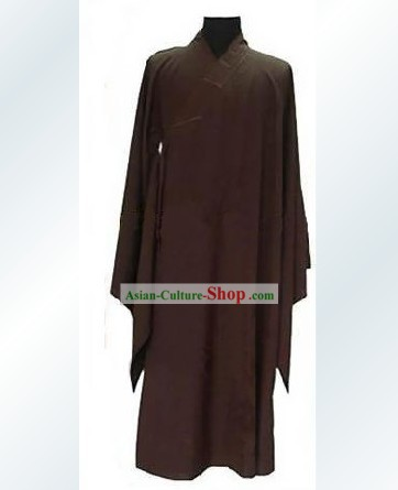 Chinese Traditional Ju Shi Monk Long Robe (Hai Qing)