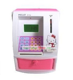 Hello Kitty ATM Bank Withdrawer Shape Saving Box - Christmas and New Year Gift