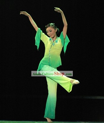 Chinese Color Transition Dance Costumes