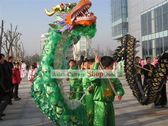 Chinese Classic Net Dragon Dance Equipments Complete Set for Five People
