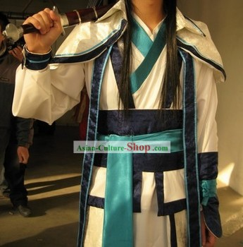 COSPLAY Chinese Ancient Swordman Dress Complete Set
