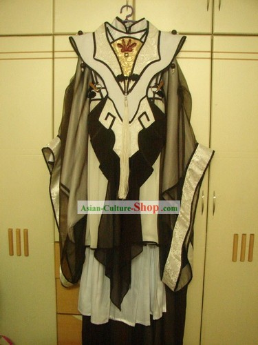 COSPLAY China Ancient Martial Arts Master Costumes Complete Set