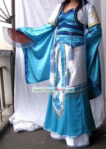 COSPLAY Chinese Ancient Swordwoman Costumes Complete Set