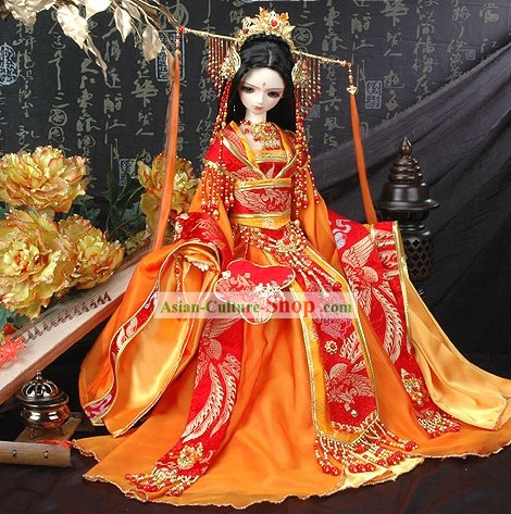 Chinese Ancient Princess Phoenix Dress Costume Complete Set