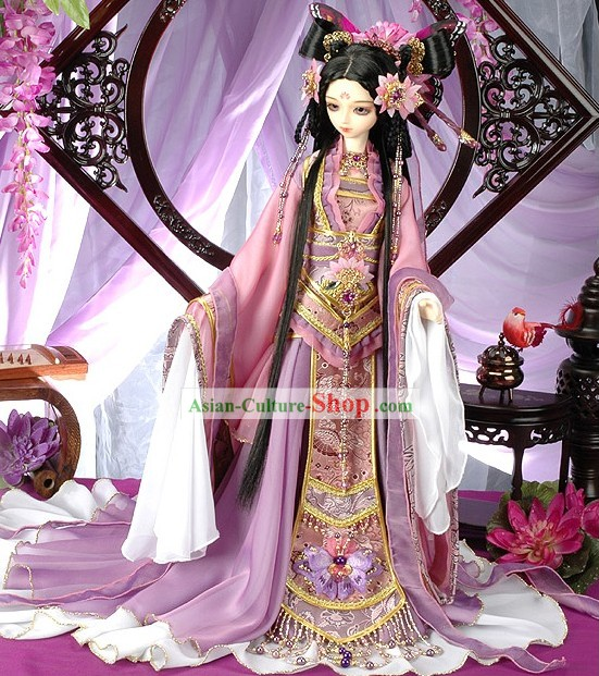 Chinese Classical Princess Costume and Hair Accessories Complete Set