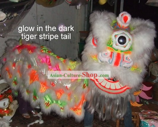 Chinese Fluorescent Luminous Rainbow Lion Dance Costumes Complete Set/Lion Dance Lantern