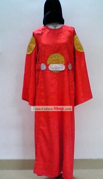 Ancient Korea Emperor Costumes and Hat Complete Set