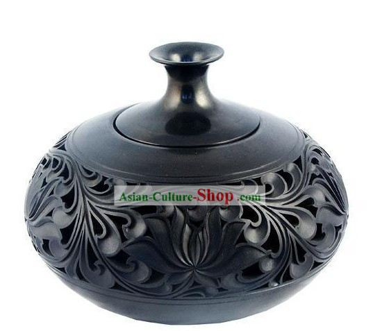 Chinese Traditional Longshan Black Pottery - Scaldino