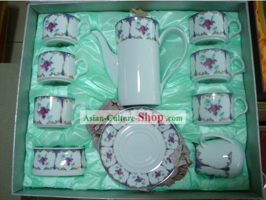 Chinese Classic Jing De Zhen Ceramic 15 Pieces Coffee Set