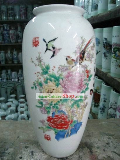Chinese Classic Jing De Zhen Ceramic Lotus Flower Receptacle