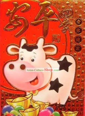 Chinese New Year Classic Ang Pow Red Envelope - Cow