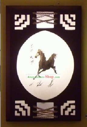 Chinese Traditional Wood and Parchment Ceiling Lantern - Horse Win Speedy Success