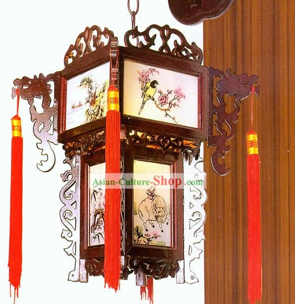 Деревянный китайский фонарик своими руками 14