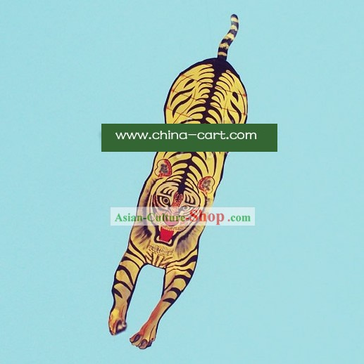 Chinese Traditional Weifang Hand Painted and Made Kite - 236 Inches Large Tiger