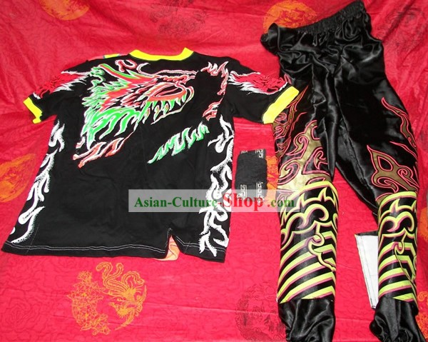 Professional Luminous Dragon Dance Costumes, Pants, Leg Coverings for Dancer (black)