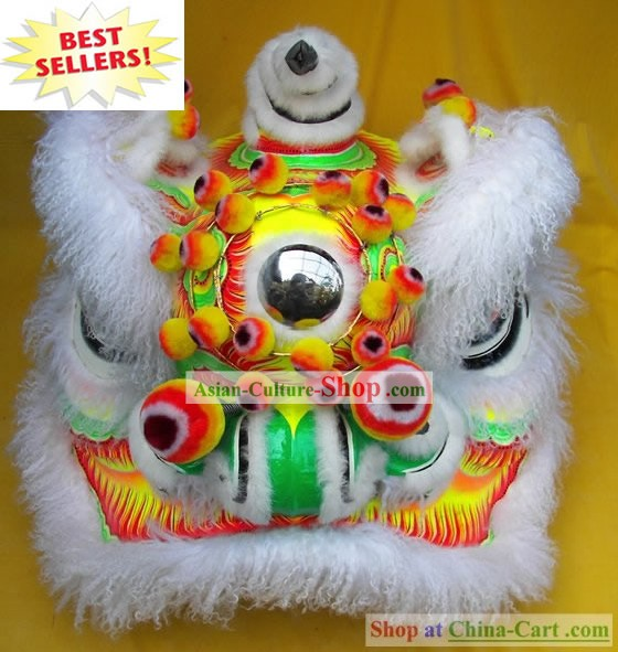 Supreme Competition and Parade Long Sheep Wool Southern Lion Dance Costumes Complete Set