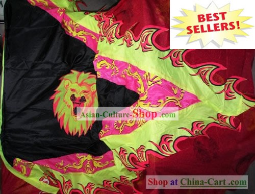 Large Traditional Dragon Dance and Lion Dance Giant Silk Triangular Flag