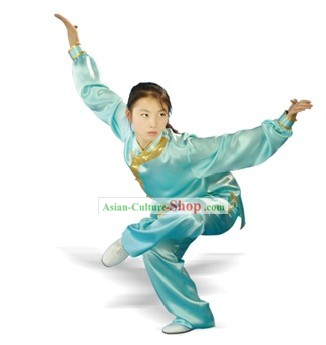 Chinese Traditional Wu Shu Kung Fu 100% Silk Uniform