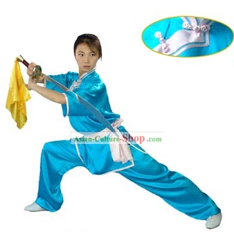 Chinese Traditional Changquan Long Fist 100% Silk Uniform for Women