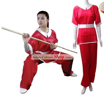 Chinese Traditional Martial Arts 100 Percent Silk Changquan Long Fist Uniform for Women