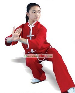 Chinese Traditional Silk and Cotton Kung Fu Uniform for Women