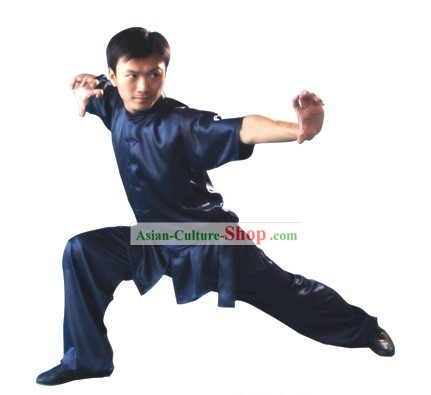 Chinese Professional Changquan Long Fist Kung Fu Uniform for Men