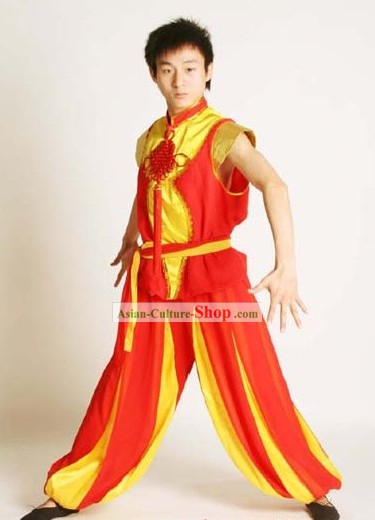 Traditional Chinese Lion Dance and Dragon Dance Lead Uniform