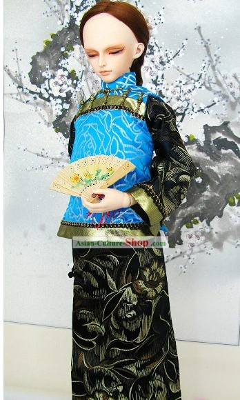 Ancient China Qing Dynasty Chieftain Costumes for Men