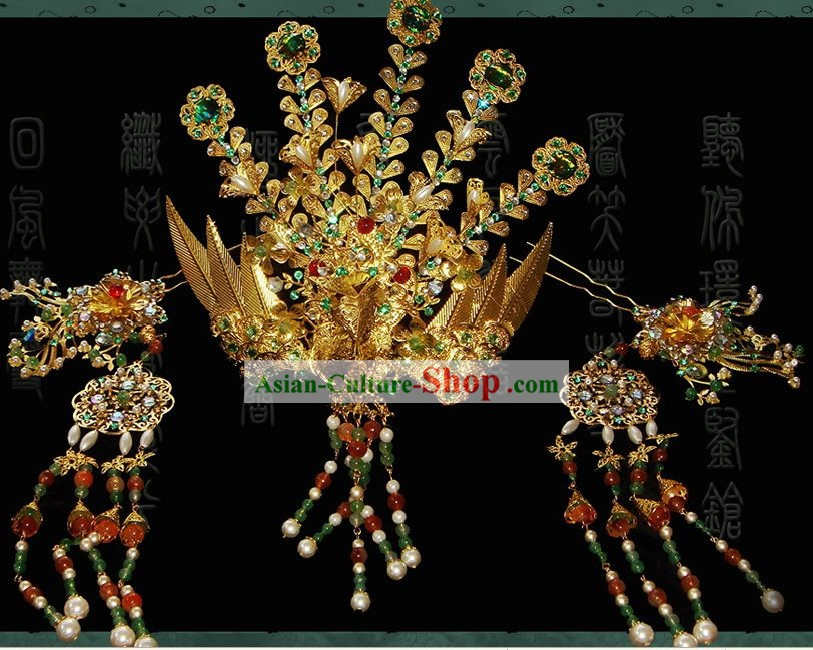 Supreme Chinese Handmade Hair Clasp for Ancient Costumes