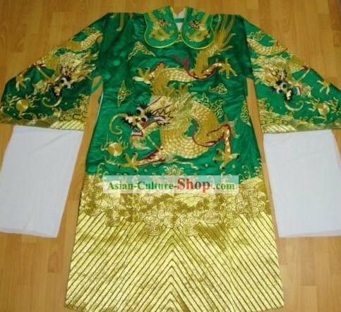 Traditional Chinese Beijing Opera Ancient Costumes (Unique Large Embroidery Dragon Design)