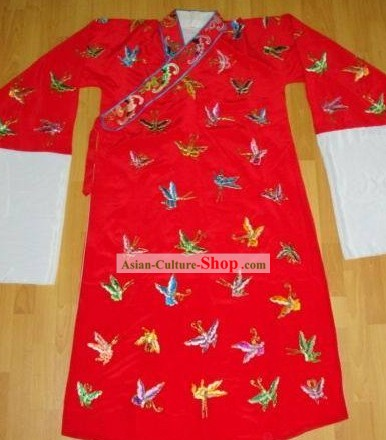 Handmade Embroidered Butterfly Clothing for Ancient Young Men Xiao Sheng