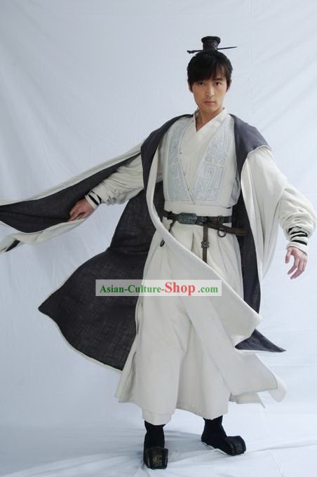 Chinese Ancient Swords Man Costumes Complete Set