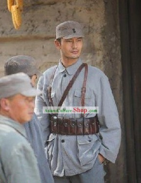 China Eighth Route Army Costumes and Hat Complete Set