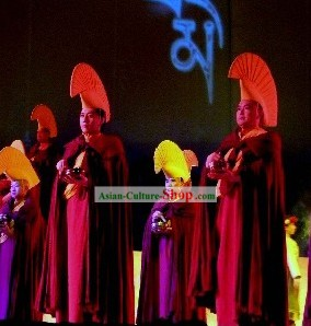 Tibetan Lama Monk Costumes and Hat Complete Set