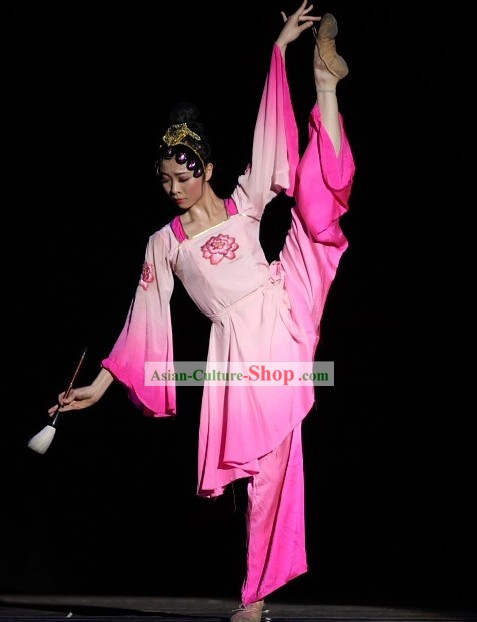 Chinese Traditional Fan Dance Costume