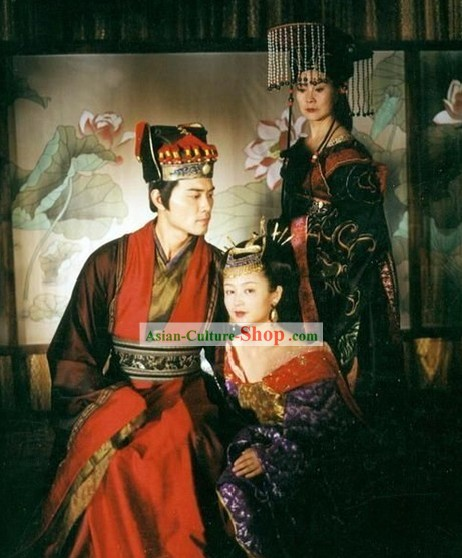 Chinese Ancient Palace Costumes and Hat for Men