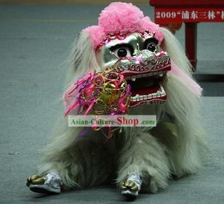 Traditional Beijing Long Yak Fur Lion Dance Costumes Complete Set