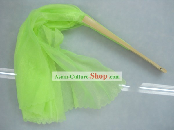Chinese Traditional Light Green Silk Dance Fan
