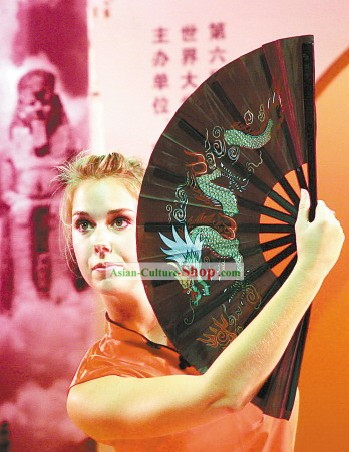Chinese Traditional Martial Arts Black Fan