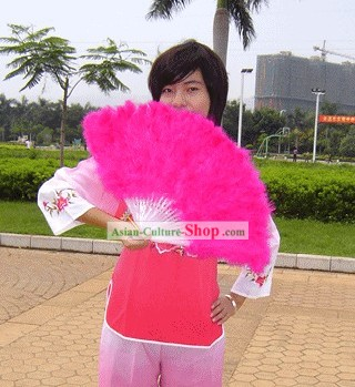 Goose Hair Pink Fan