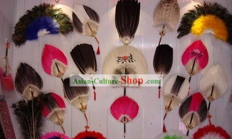 Chinese Traditional Feather Fans