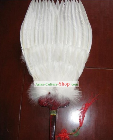 Supreme Zhuge Liang Wise Men Goose White Fan