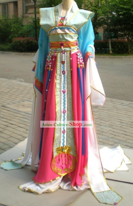 Chinese Ancient Fans Dance Costume