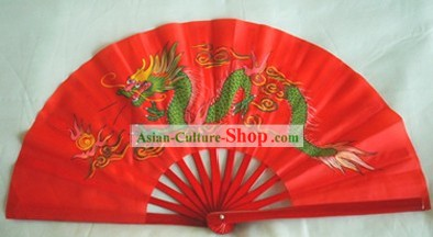 Chinese Traditional Martial Arts Red Fan