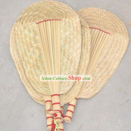 Chinese Ancient Handmade Rattan Fan