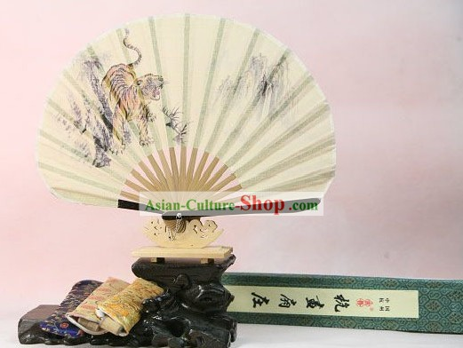 Japanese Girl Tiger Bell Fan