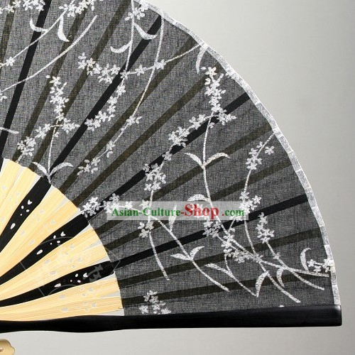 Chinese Cotton and Flax Folding Fan for Women